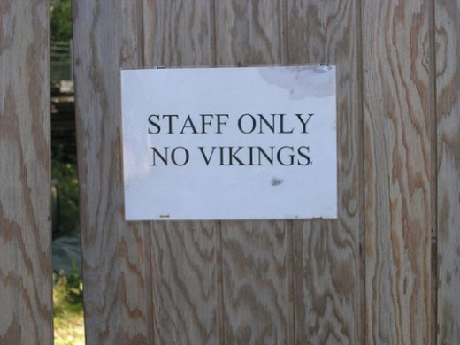 """Vikings Please Use Side Entrance"""