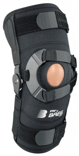Patellofemoral hinged knee brace