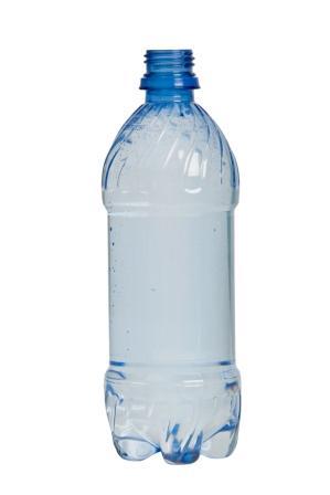 photo of blue plastic bottle
