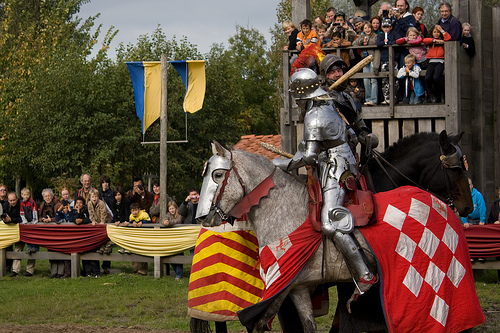 Jousting is a popular attraction at many renaissance fairs.