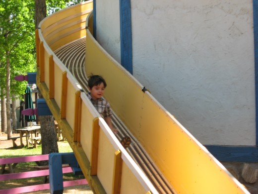 The slide at the renaissance towers.