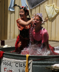 "The Washing Well Women - ""good clean fun and wet, dirty women."""
