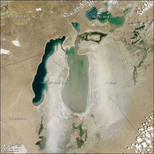 AERIAL IMAGE OF ARAL SEA