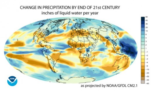 CHANGE IN PRECIPITATION BY THE END OF THE 21st CENTURY
