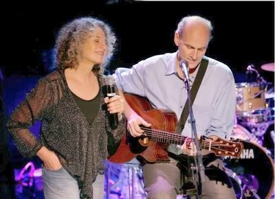 Carole King and James Taylor On-stage at the troubadour world tour.