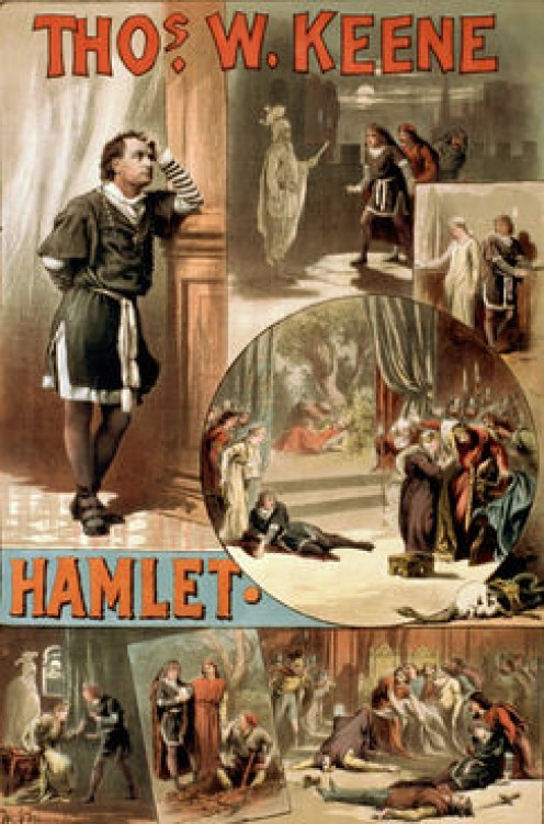 Thomas W Keene. An American Hamlet. Circa 1884