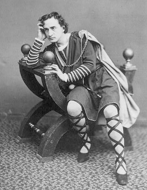 Edwin Booth - an American Hamlet circa 1870