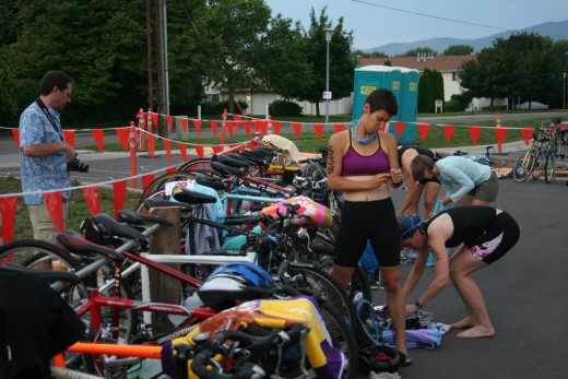 Summer 2009, getting ready to swim, bike, and run in my first triathlon.