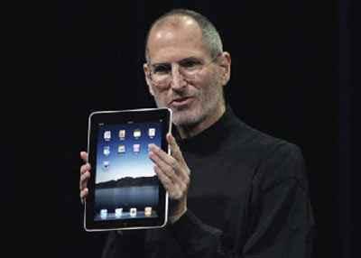 Steve Jobs Holds his new money printer