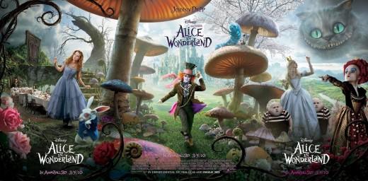 Alice in Wonderland 3d movies (Tim Burton)