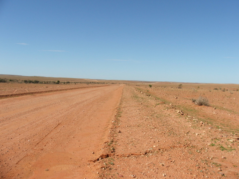 Near Innaminka, South Australia though you would never know! Photo: Lissie