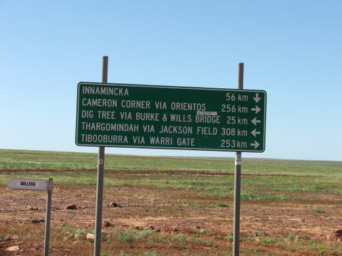 The next time we saw a real road sign like this was 2 days later! Photo: Lissie