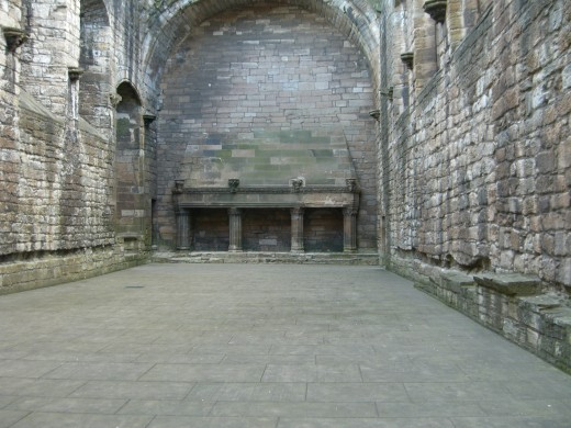 the grand hall and fireplace