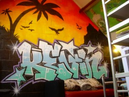 Graffiti gives your room that special touch
