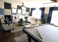 A well decorated lounge