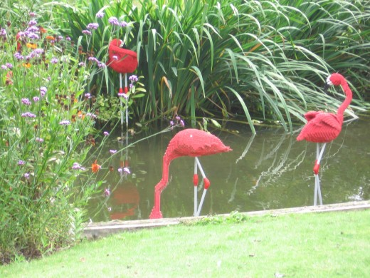 Lego Flamingoes