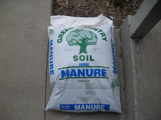 Bagged manure is readily available and inexpensive.