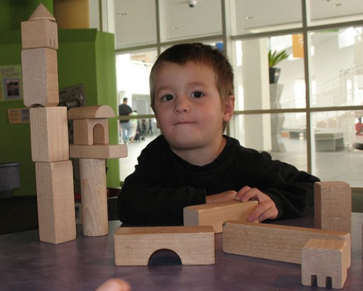 Blocks are one of the basic learning toys.