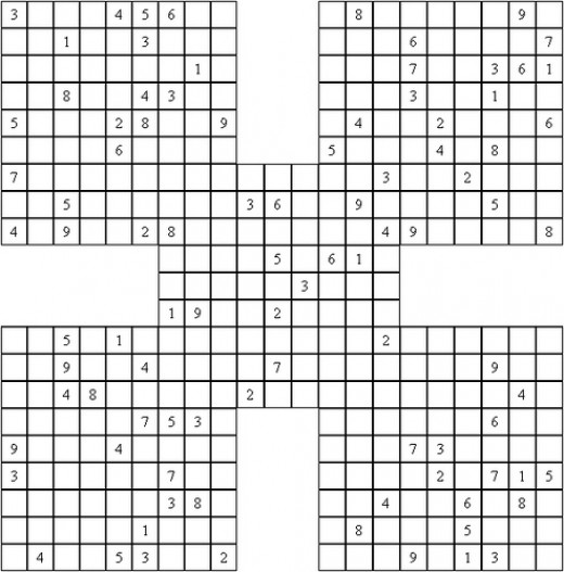 A Soduku puzzle. This game can enhance your child's mathematics.