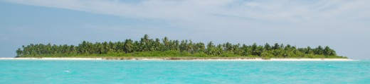 A beautiful but uninhabited island in Lakshadweep