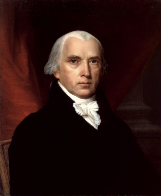 James Madison/Portrait by John Vanderlyn Source:  White House Historical Association