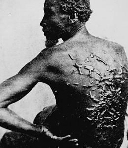 A Slave's back.