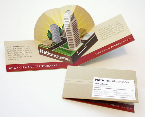 3d pop up business name card