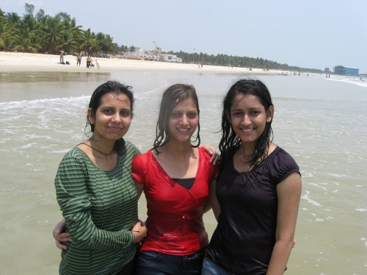 Beach at desi girls