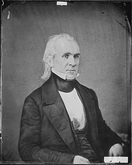 James K. Polk, elected President on a pro-annexation platform
