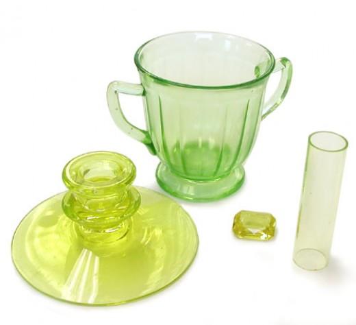 Vaseline Glass in normal light.