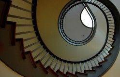 Space Saver Spiral Stairs - Circular Staircase in a Closet