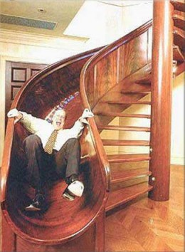 Spiral stair slide from richardbanks.com