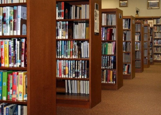 Libraries smell like...books!  The internet does not.