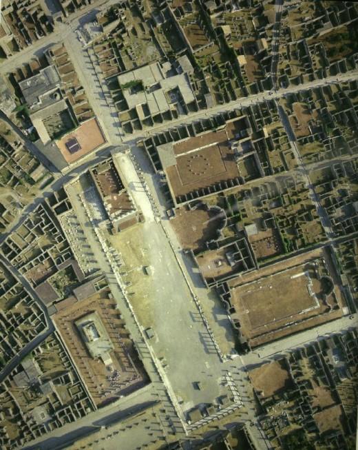 Pompeii birdseye view