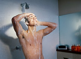 Bacteria can lurk on showerheads.
