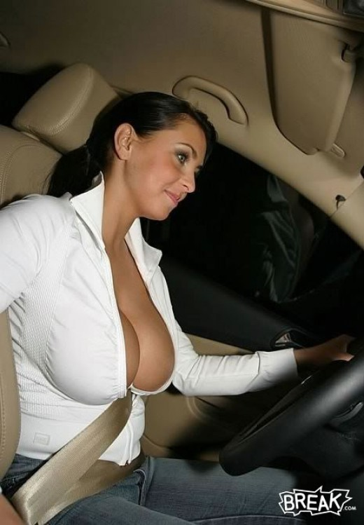 This vehicle is fitted with airbags. The young lady is well equipped as well.