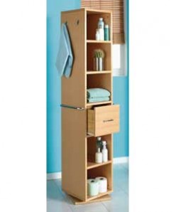 Bathroom storage solutions, such as small drawers