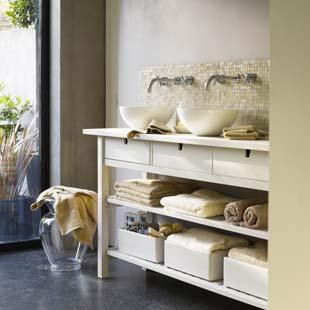 Perhaps a combination of drawers and shelves will be a good option.
