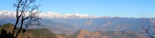 View of the Himalayas from Chopta, Uttarkhand, India