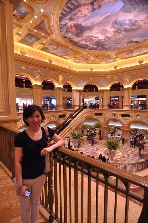 Interior of Venetian Hotel - Macau