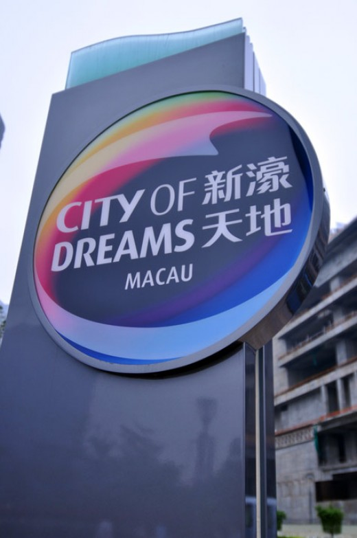 the City of Dreams signage