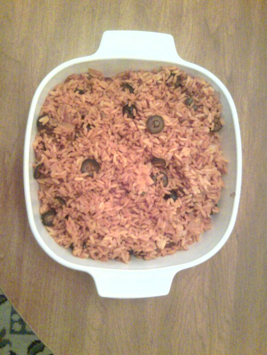 Spanish rice done!