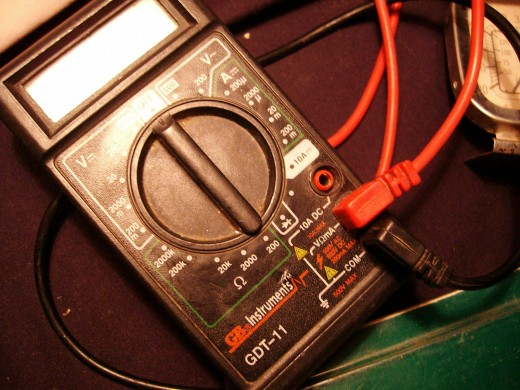 Multimeter aka Volt Ohm Meter (VOM)