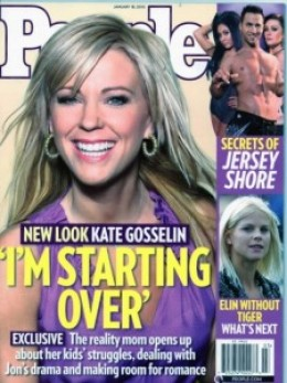 Kate Gosselin is almost unrecognizable with new hair extensions.  It sems to change the shape of her face.