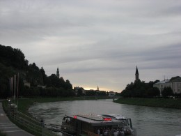 I am cruising the brown river Danube on which banks I was born