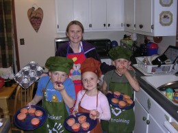 Me and The Kids Baking Cupcakes