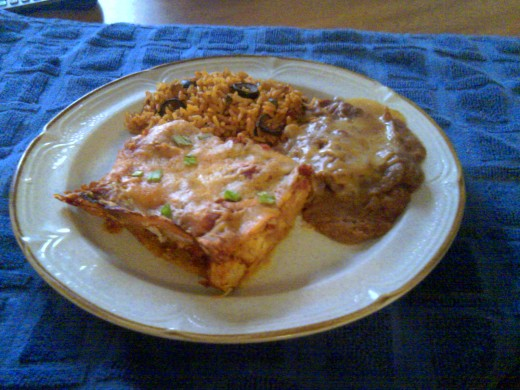 Served as part of a complete meal when added to my Spanish rice and Refried beans.(see my hub for the recipe).