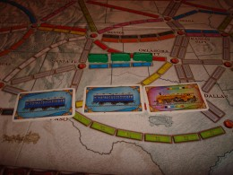 Train cards and train pieces