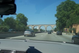 On the highway in southern France on the way to the Midi.
