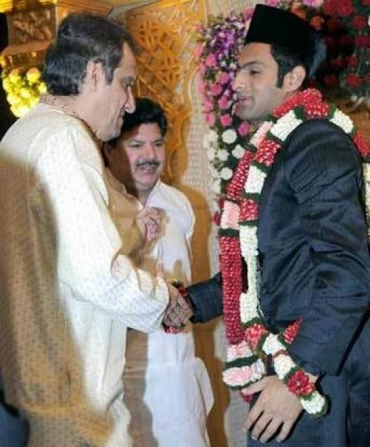 Shoaib-being wished by his father-in-law-Mr.Mirza , at the marriage